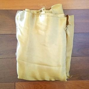 NWOT Gold satin fabric. Size 54 in x 10 yds.